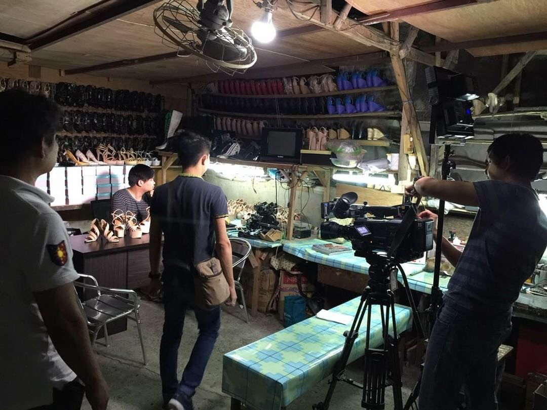 THE PROCESS. A behind the scenes in the making of Jojo's shoe line. Photo courtesy of Jojo Bragais