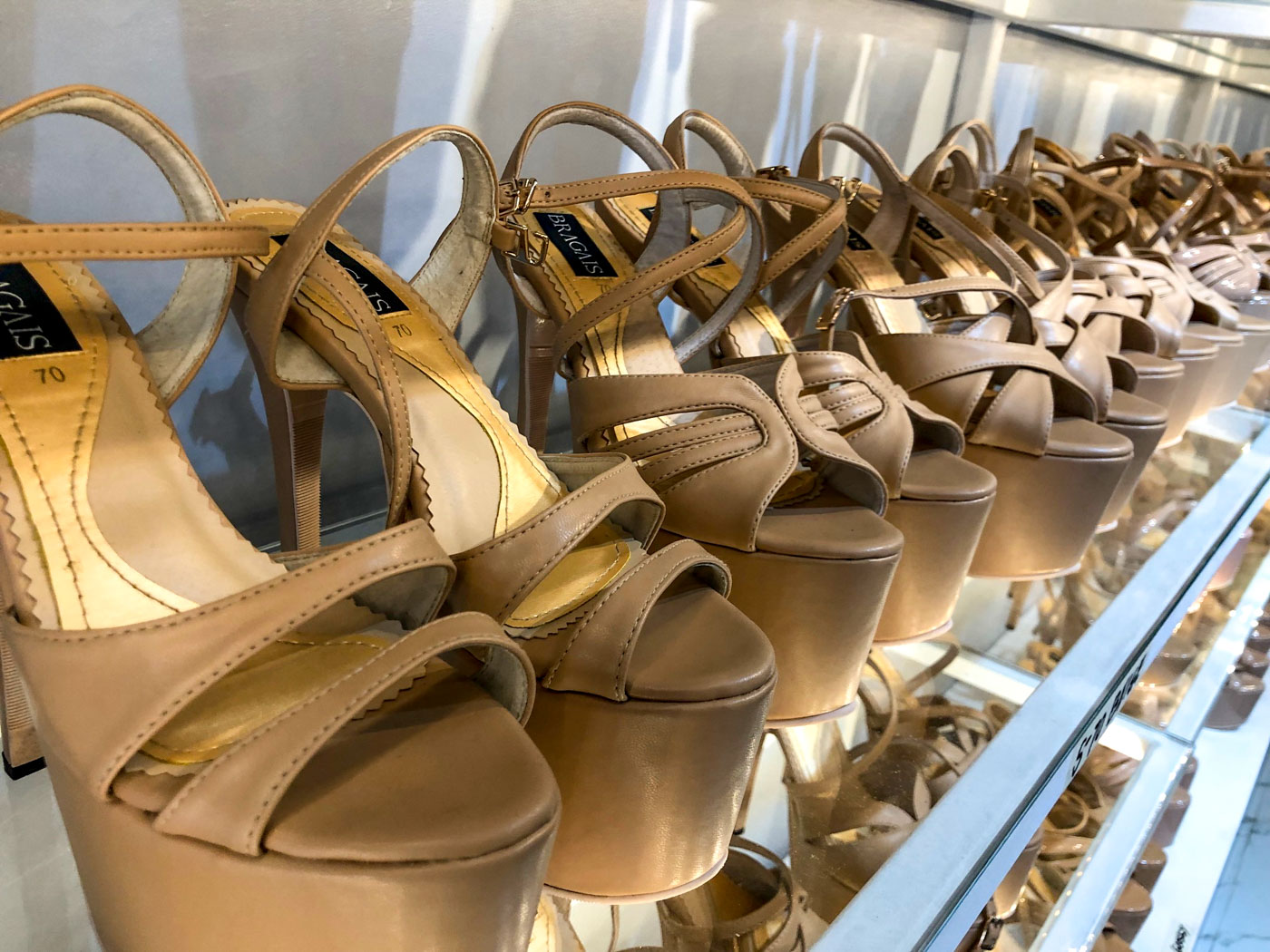 MORE SHOES. Jojo's line of pageant shoes in his store in Quezon City. Photo by Voltaire Tayag/Rappler