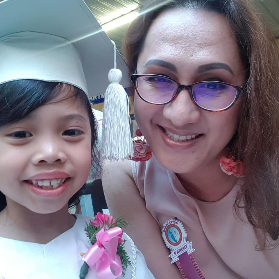 Designer Mikee Andrei and daughter Pauline during her graduation. Photo from Facebook/Mikee Andrei