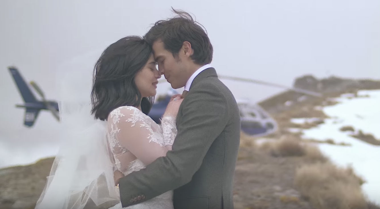 ANNE AND ERWAN. After many years of being together, Anne Curtis and Erwan Heussaff seal their relationship with a wedding in New Zealand. Screengrab from YouTube/Jason Magbanua