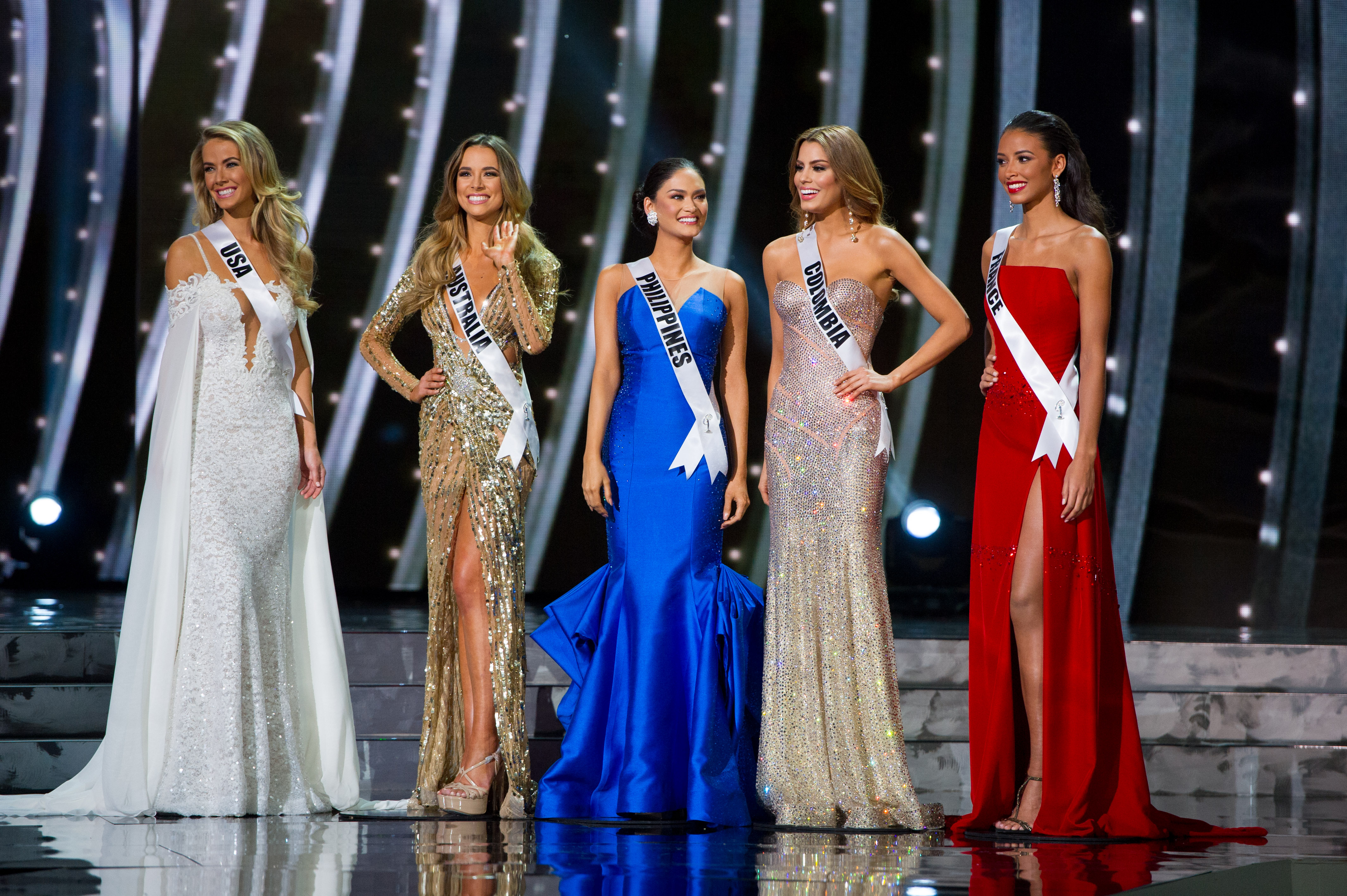 TOP 5. The Miss Universe contestants at the 2015 competition. Photo courtesy of HO/The Miss Universe Organization
