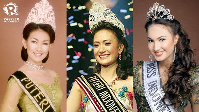 MEWAKILI INDONESIA. Alya Rohali, Artika Sari Devi, dan Nadine Chandrawinata adalah tiga dari banyak perempuan yang pernah dinobatkan sebagai Puteri Indonesia dan mewakili Indonesia ke ajang Miss Universe. Foto dari puteri-indonesia.com dan indonesianpageants.com