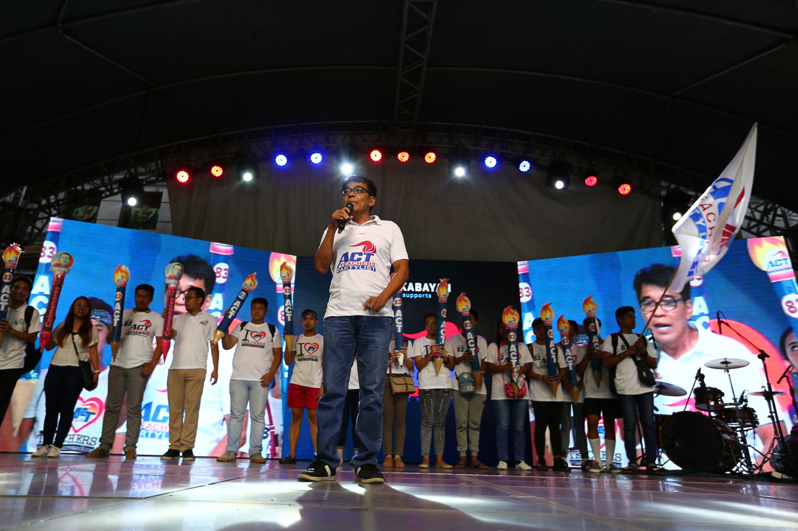 MAKABAYAN BLOC. ACT Teachers manages to gather enough support to win a seat in the 2019 elections. Photo by Jire Carreon/Rappler