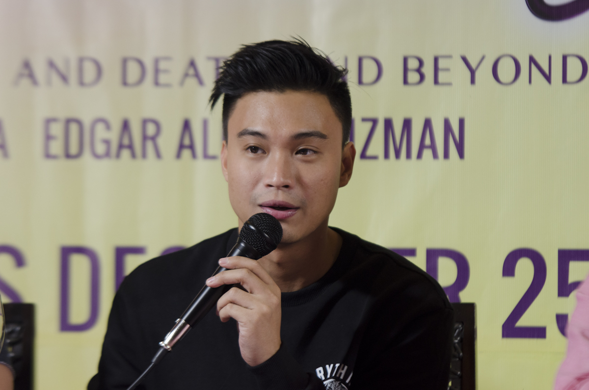 ALL OUT. Edgar Allan Guzman says he gave everything in terms of acting in the movie.