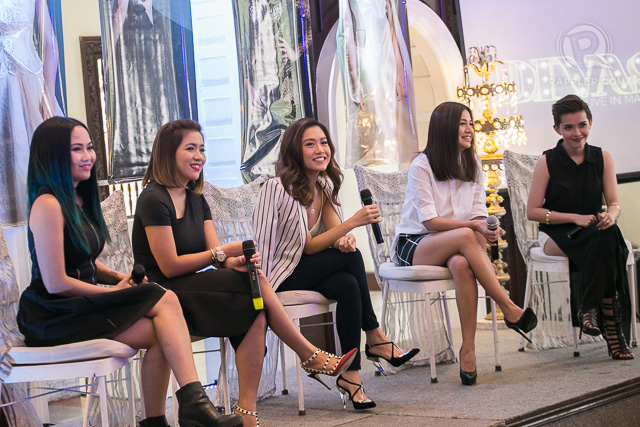 Rachelle with Kyla, Yeng Constantino, Angeline Quinto and KZ Tandingan. Photo by Manman Dejeto/Rappler