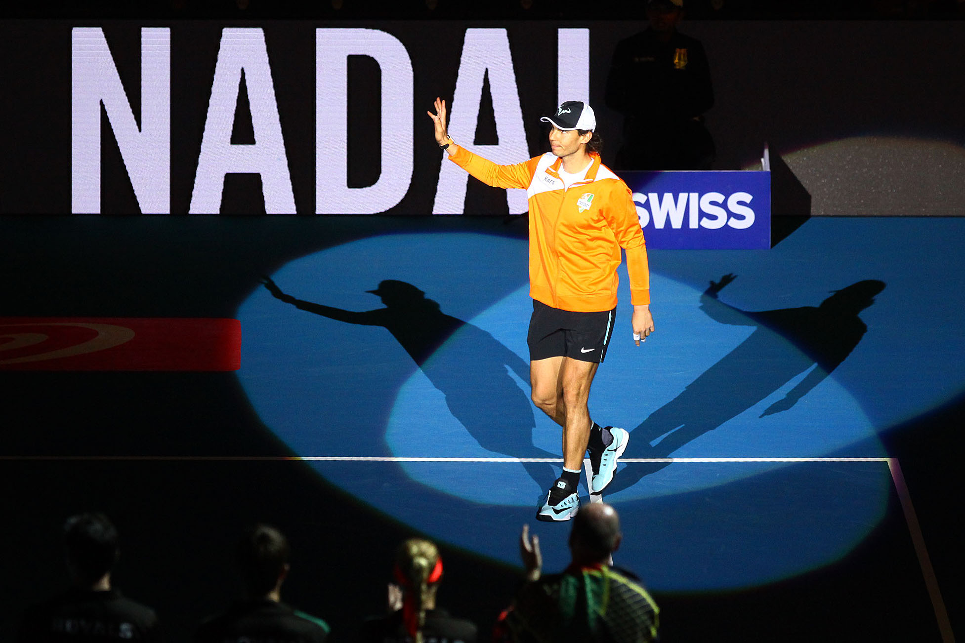 ROUSING. Nadal received quite a loud applause from the Manila crowd. File photo by Josh Albelda/Rappler