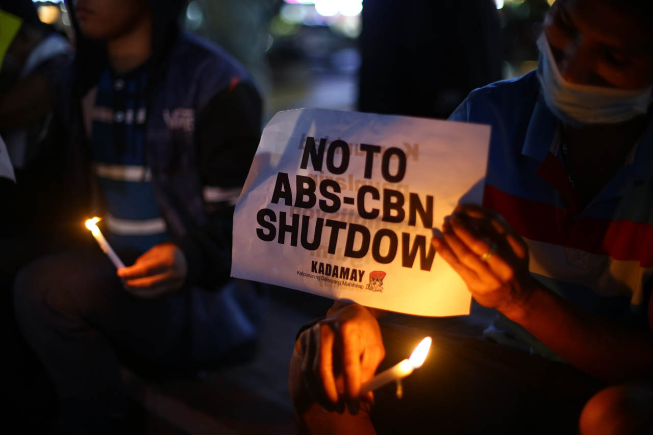 RALLY FOR ABS-CBN. Journalists and media practitioners gather in Quezon City on February 10, 2020 to protest the Supreme Court case against the media company. Photo by Jire Carreon/Rappler
