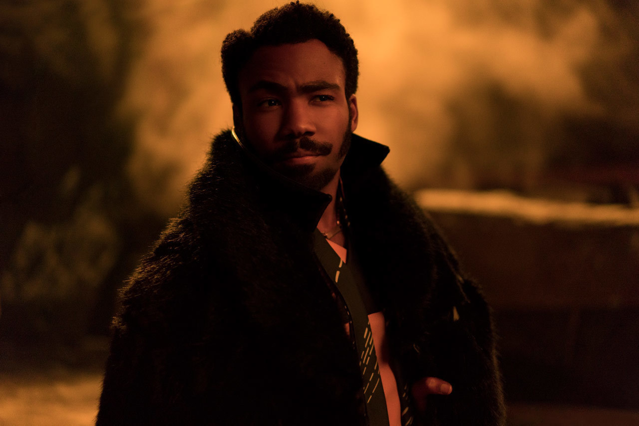 LANDO. Donald Glover as the young Lando Calrissian in 'Solo: A Star Wars Story.'