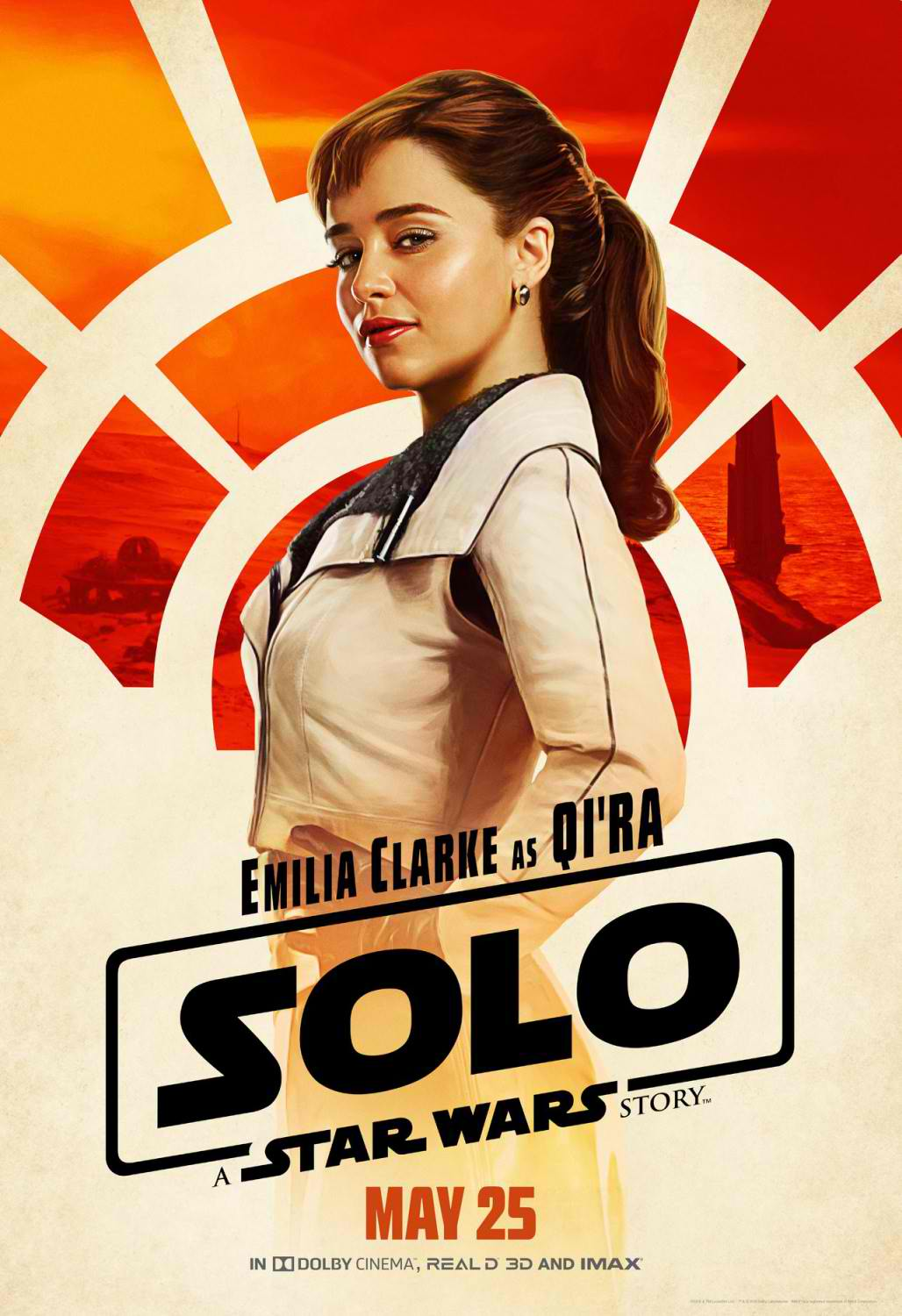 BEFORE LEA. Emilia Clarke as Qi'ra in 'Solo: A Star Wars Story.'