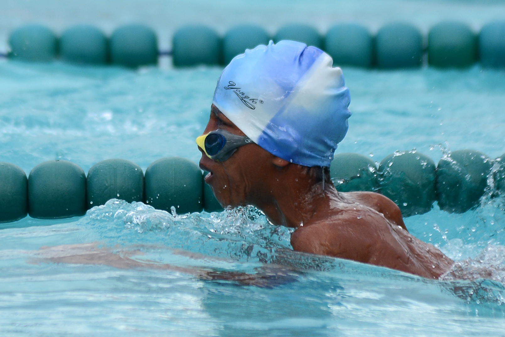 KEEP SWIMMING. A SPED swimmer pushes through the water. Photo by Roy Secretario/ Rappler