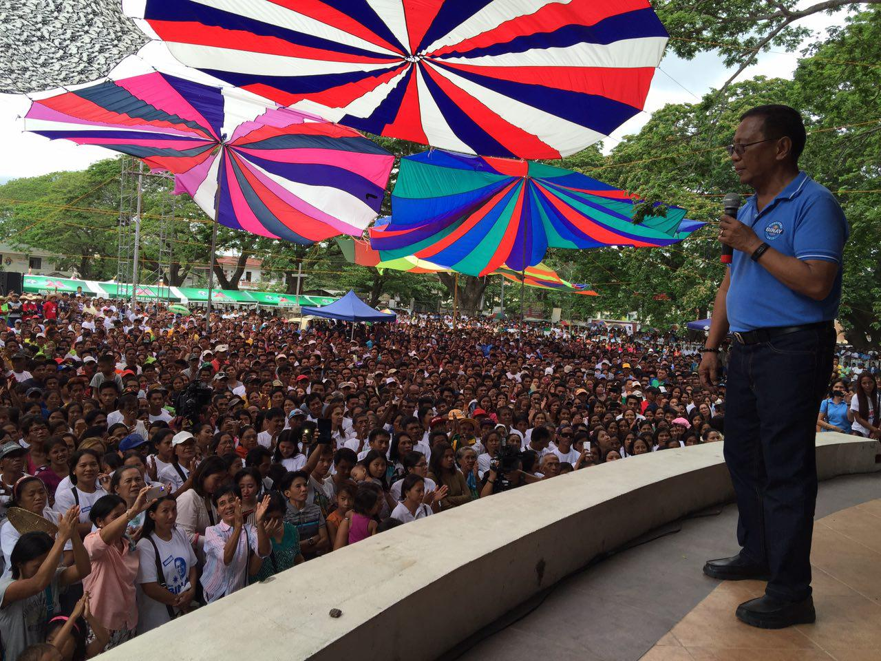 BINAY IN BAILIWICK. Jejomar Binay in Isabela. File photo by United Nationalist Alliance
