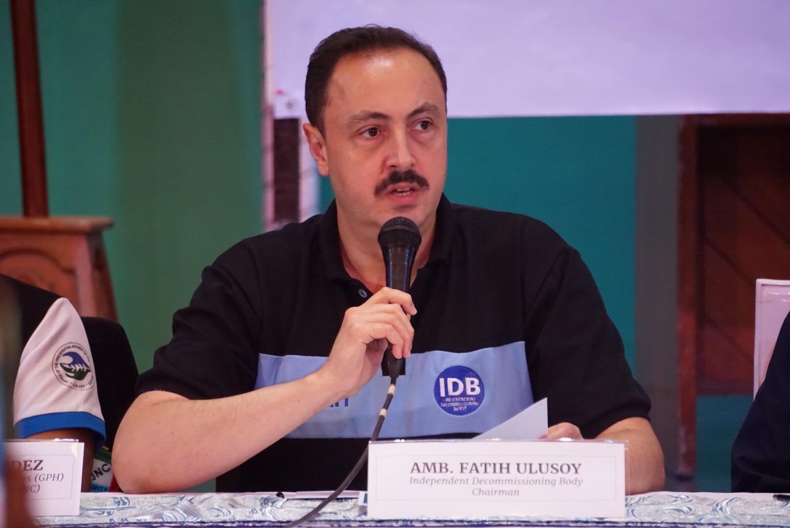 SATISFIED. IDB chairman Ambassador Fatih Ulusoy hail the sincerity of both parties. Photo by Carmela Fonbuena/Rappler
