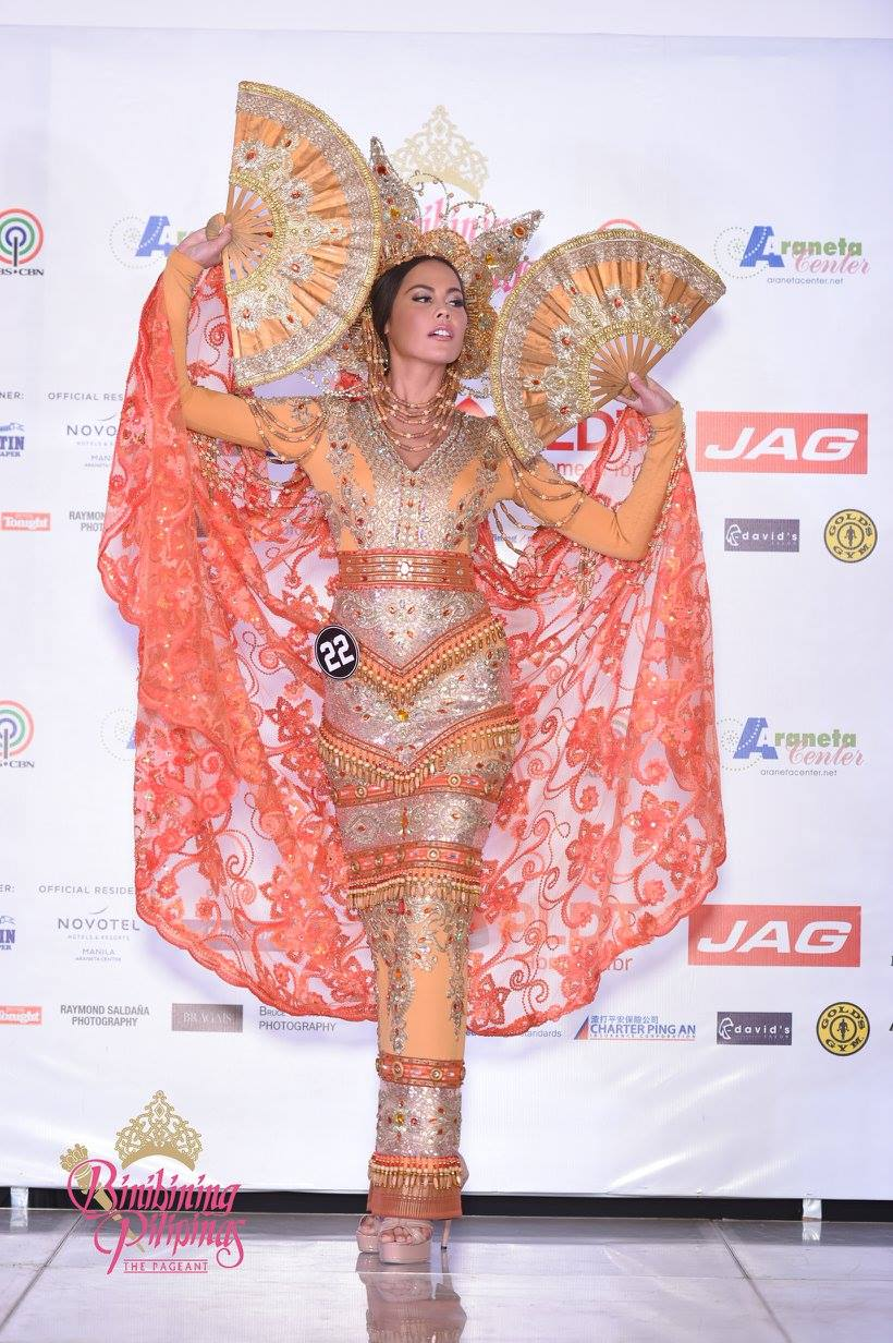 CHANEL SHINES. Chanel Thomas wears Edwin Uy during the costume presentation. Photo from Facebook/Bb Pilipinas
