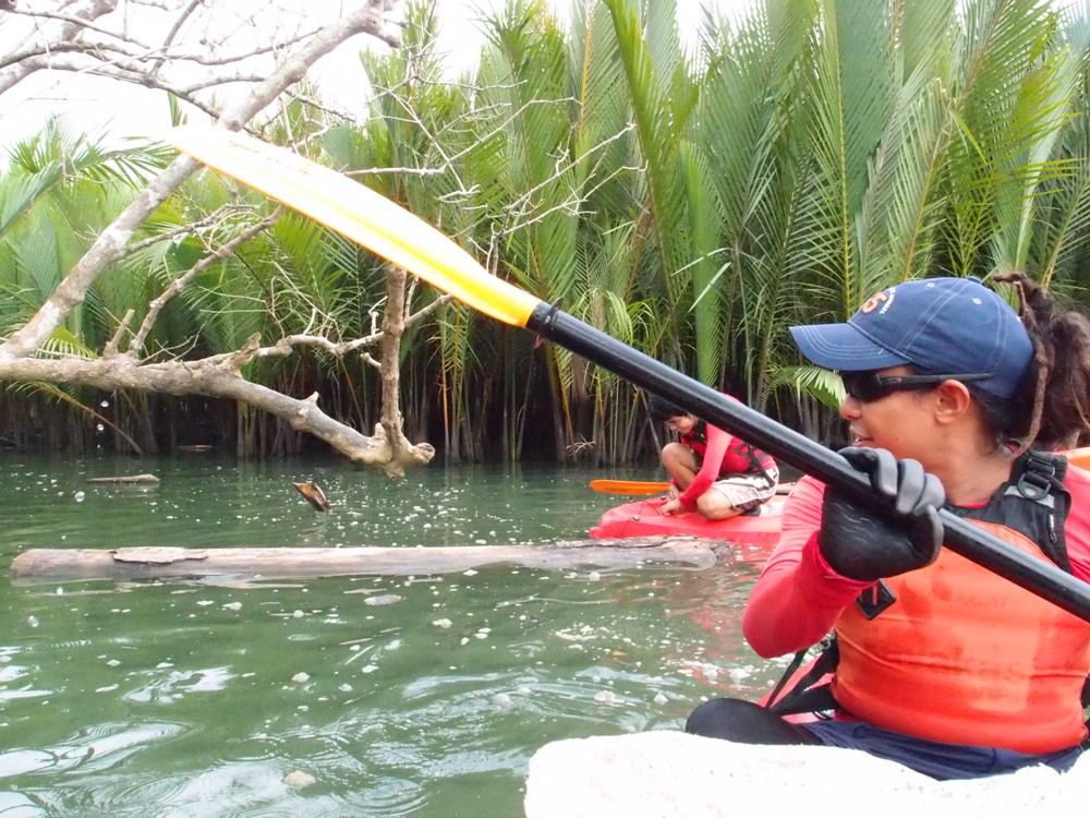 POSSIBILITIES. Rey Donaire is among the local paddlers who saw the tourism potential for Abatan River. Photo courtesy of KayakAsia Philippines