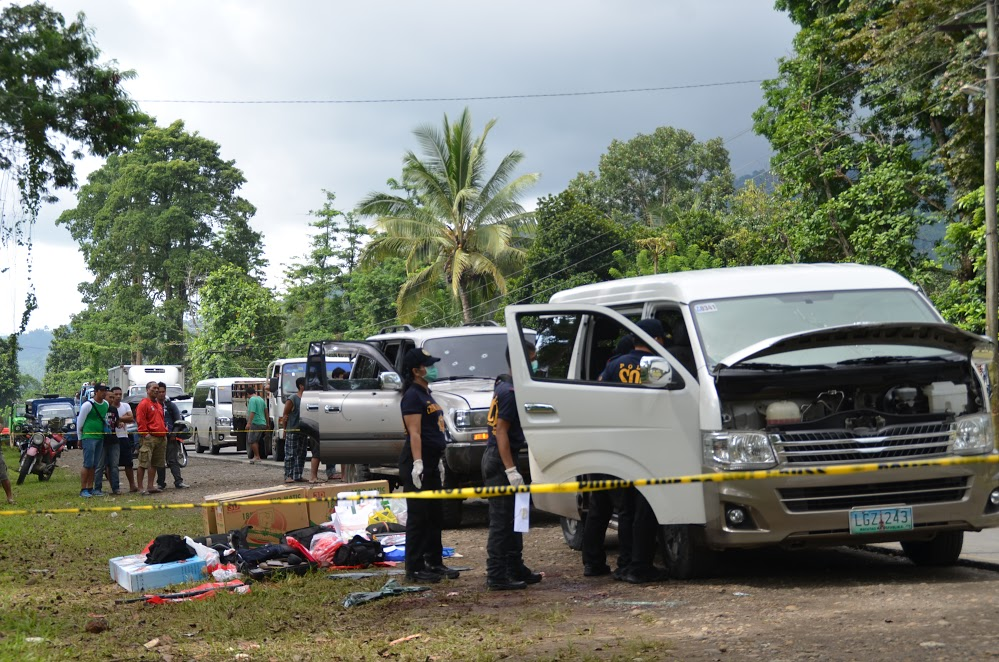 ALL DEAD. The mayor of Datu Saudi Ampatuan town and 9 others are shot dead in a shootout in Makilala, North Cotabato. Photo courtesy of the office of Mayor Rudy Caoagdan of Makilala