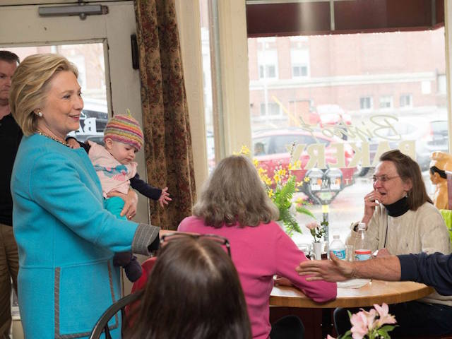 Hillary Clinton in a campaign stop in Keene, New Hampshire, April 20, 2015. Image courtesy Hillary for America