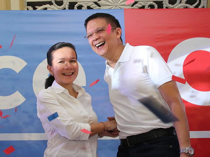 PARTIDO PILIPINAS. Senators Grace Poe and Francis Escudero are running as independent candidates of a 'Partido Pilipinas.' Still, they seek the support of political parties and partylist groups. File photo
