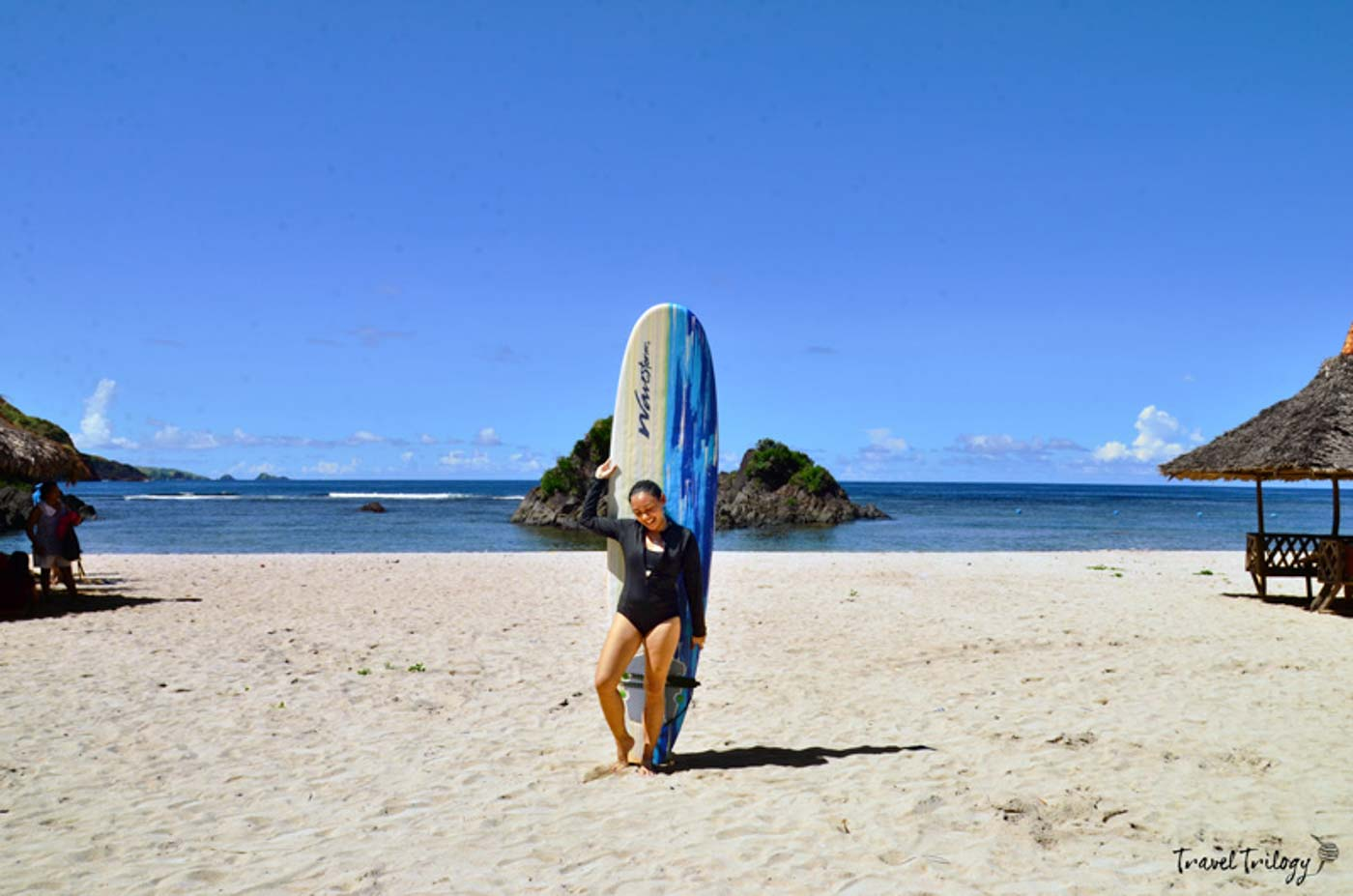 SURFING. Puraran Beach is famous for its waves. Photo by Potpot Pinili