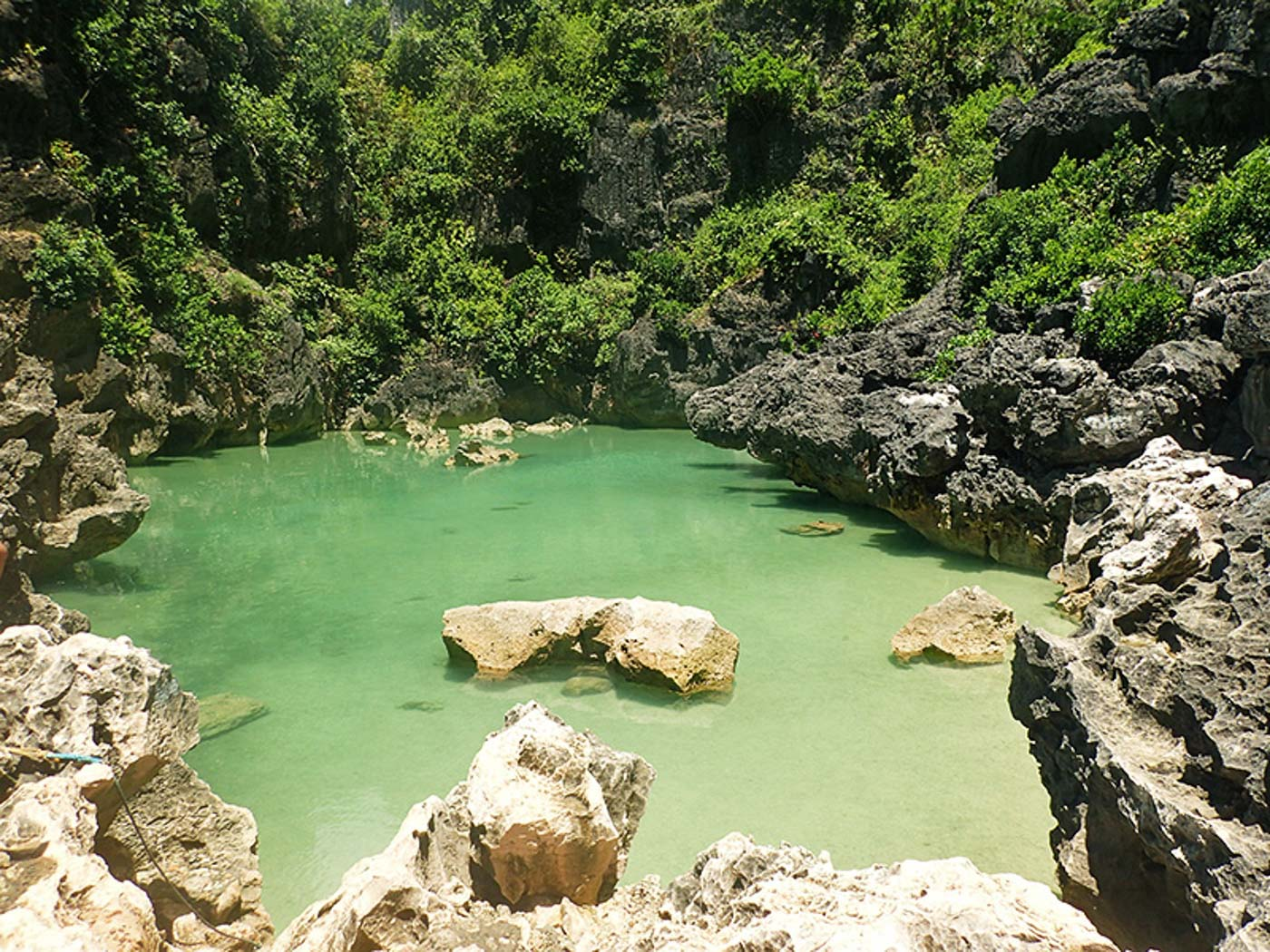 CLEAR LAGOON. Tangke is a crystal-clear lagoon perfect for swimming. Photo by Claire Madarang/Rappler
