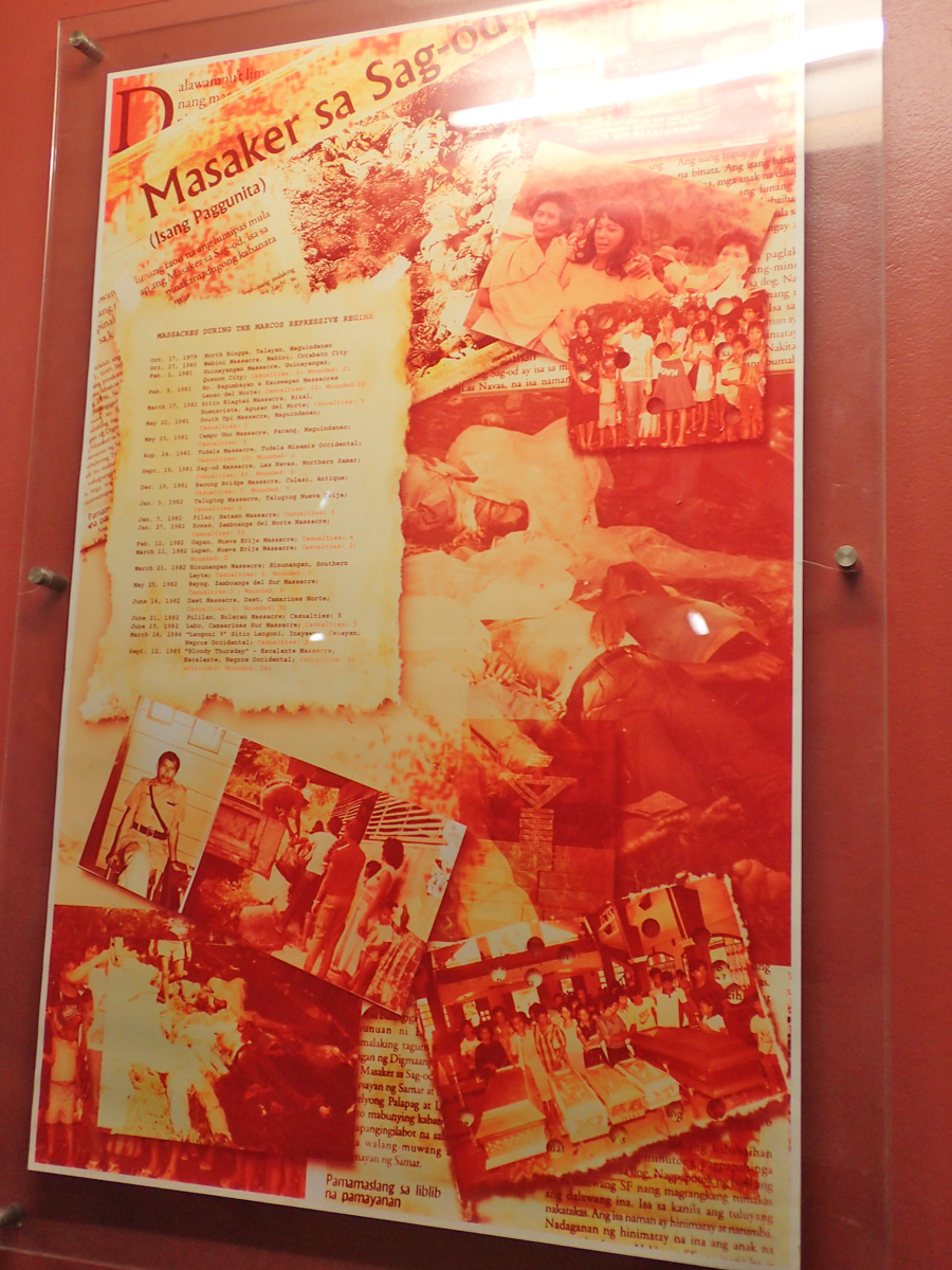 MASSACRES. Listed here are just among some of the massacres that took place around the country during the Marcos regime.