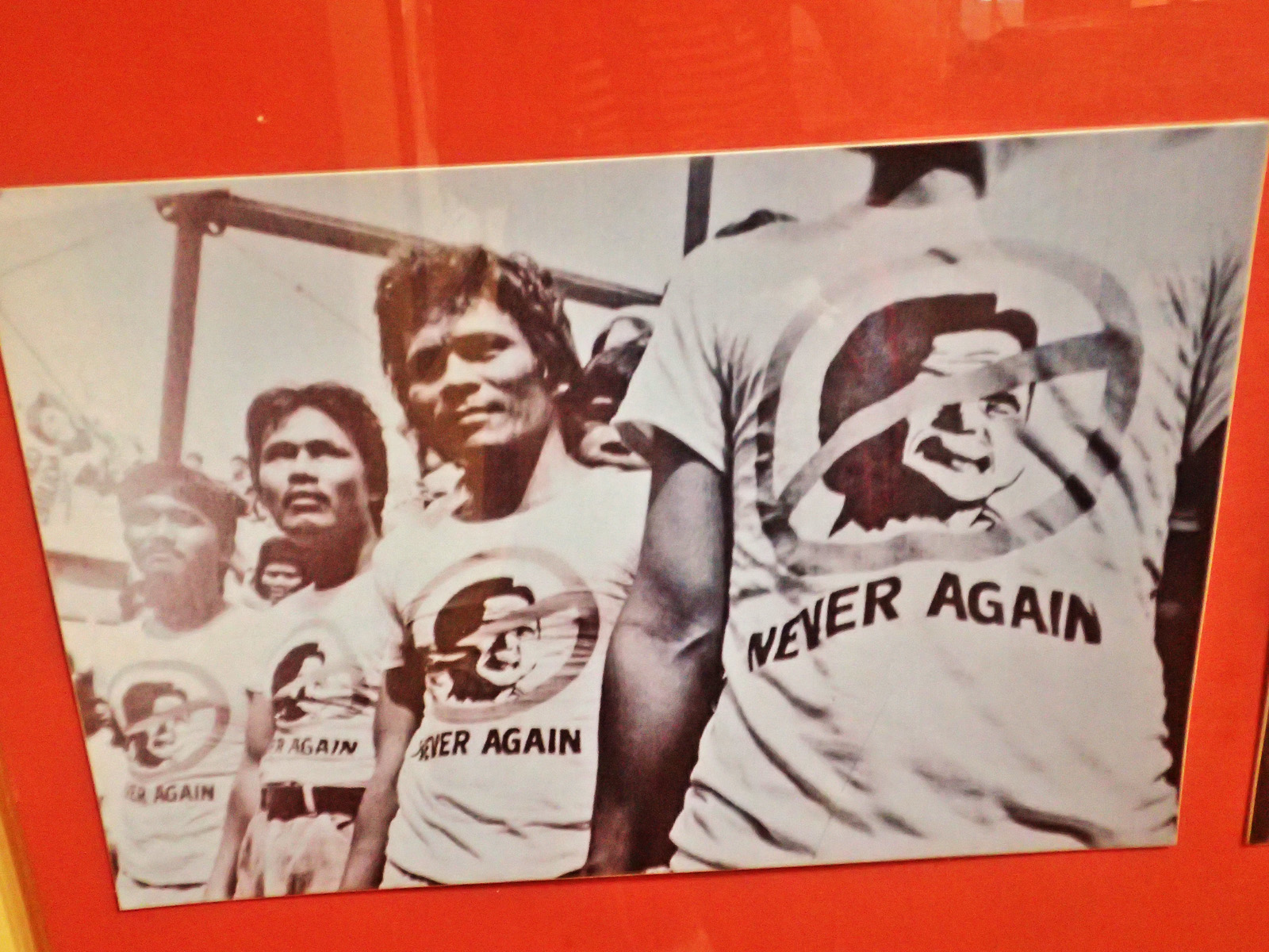 NEVER AGAIN. The fierce declaration of those who marched along EDSA.