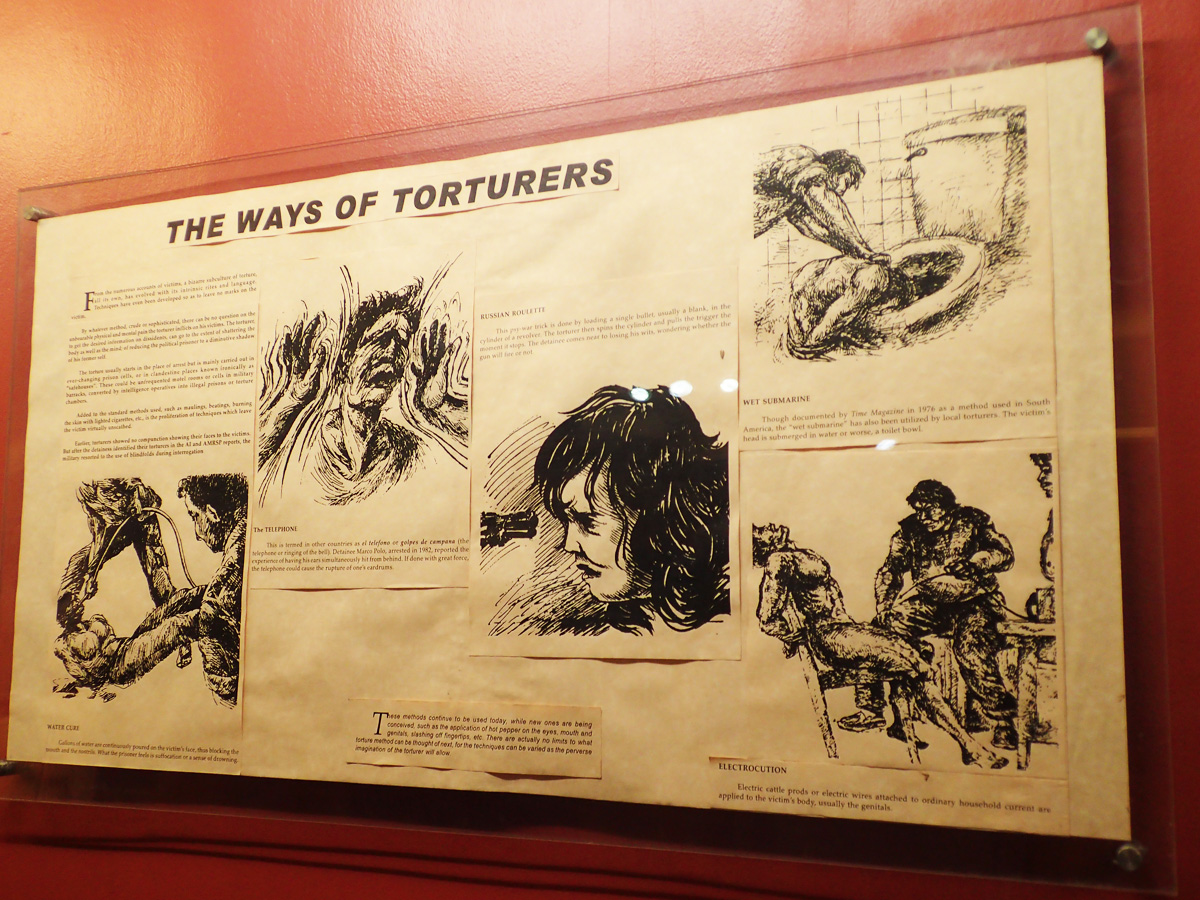 TORTURE METHODS. Here are just some of the torture methods used during the Marcos regime.