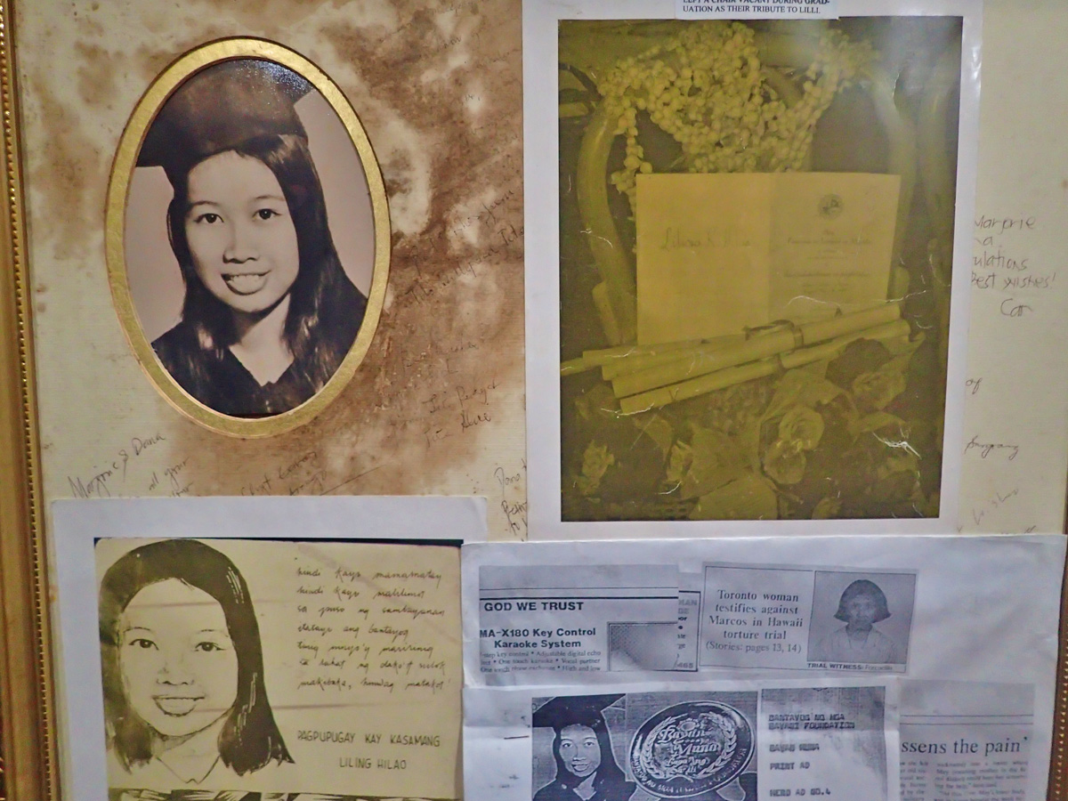 LILIOSA HILAO. Her photos can be found at the Bantayog'u0080u0099s Hall of Remembrance. She was tortured and abused after she wrote articles critical of the Marcos regime. Photo by Rhea Claire Madarang/Rappler