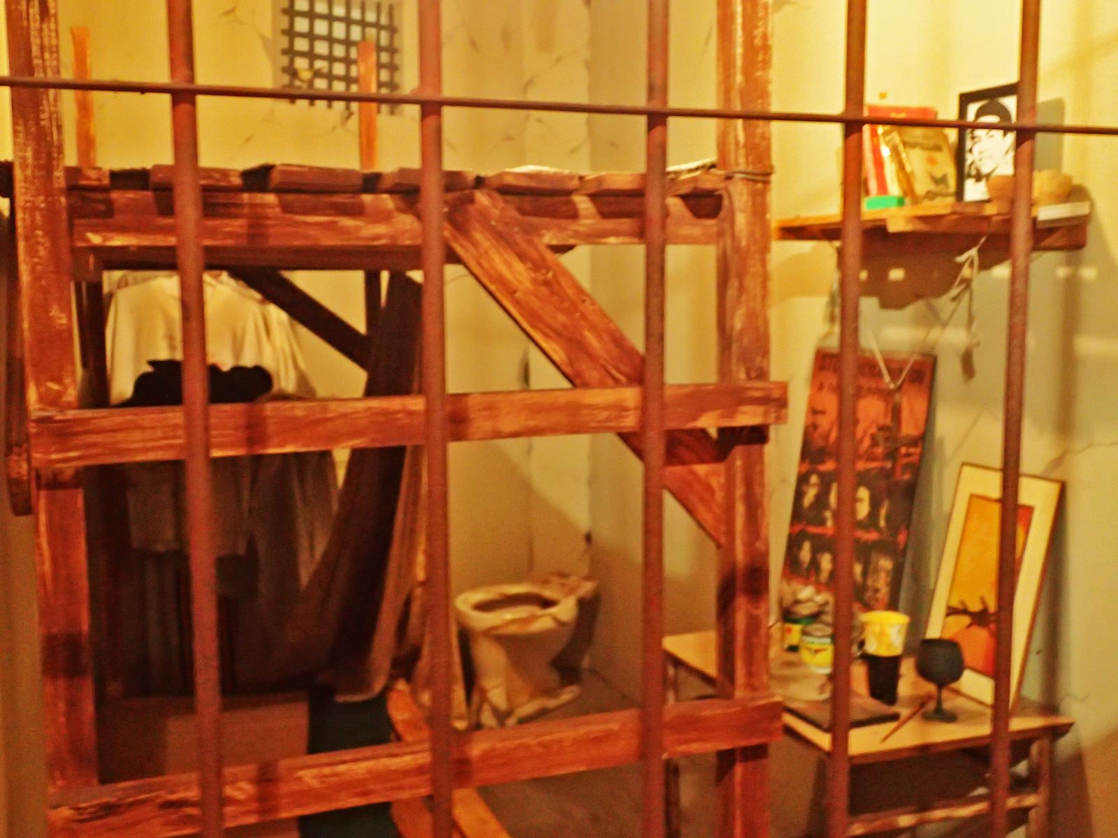 JAIL CELL. Re-created to faithfully look like the actual jail cells of detainees and torture survivors during the Marcos regime
