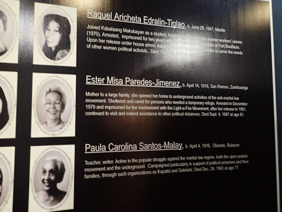 ZAMBOANGA HERO. Ester Paredes-Jimenez, whose story is shown here, offered her home as a place of refuge to the anti-Martial Law movement.