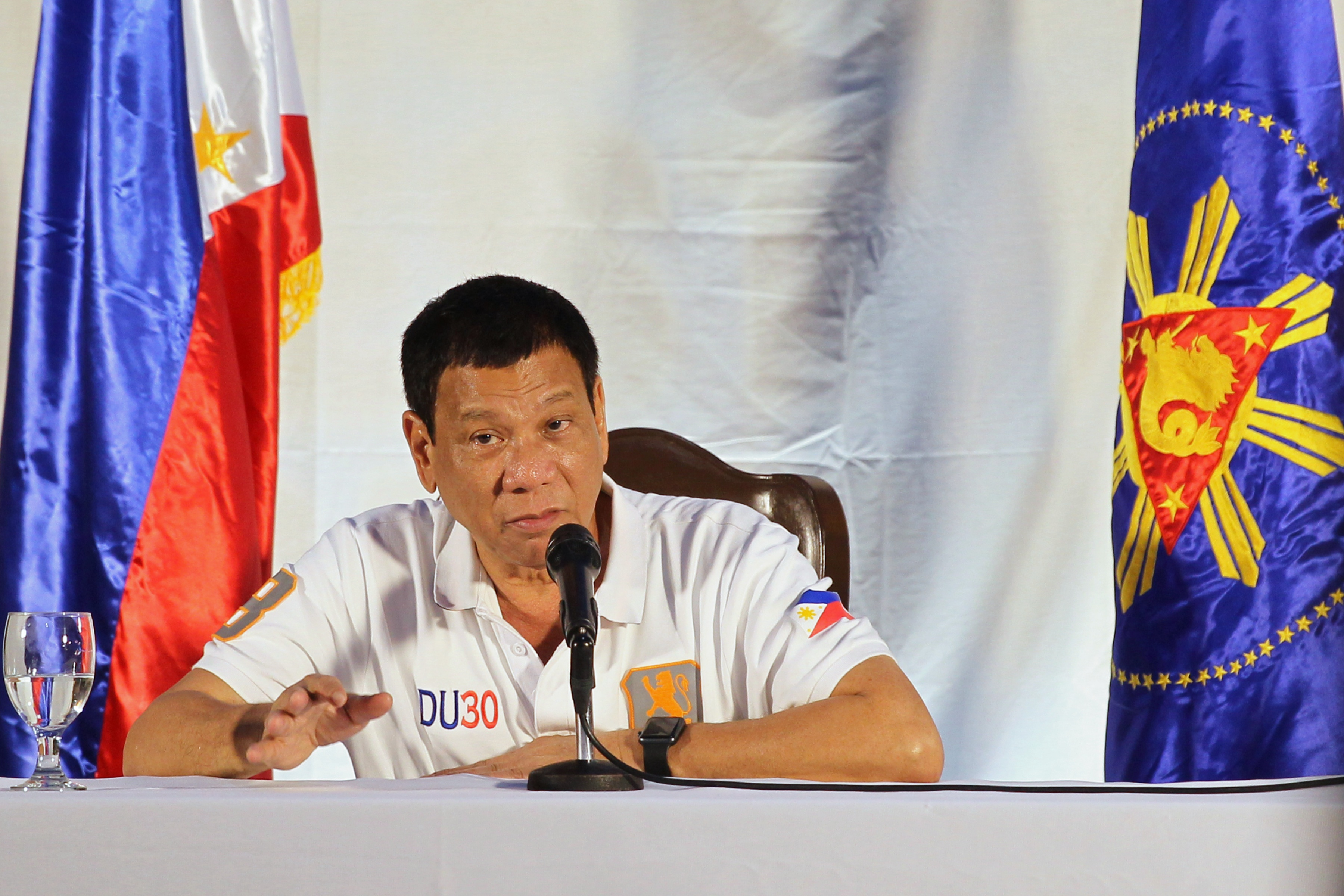 NAPOLES LIST. In a press conference in August 2016, President Rodrigo Duterte says he wants to revisit the Napoles list. Photo by Karl Norman Alonzo/PPD
