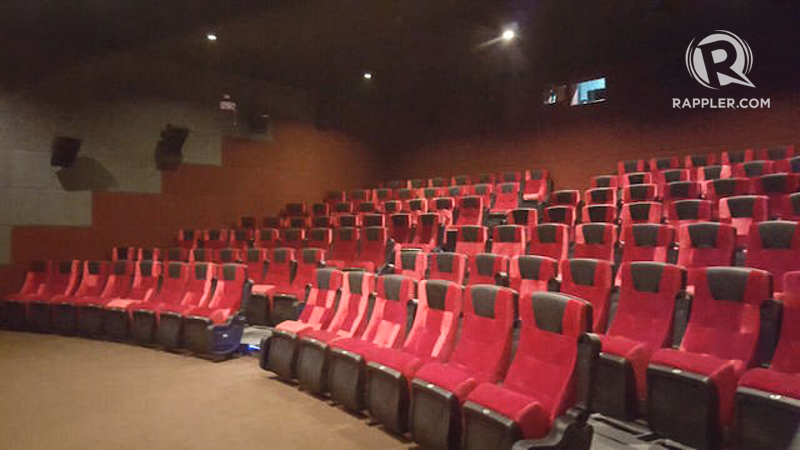 SEATING CAPACITY. The cinema's two theaters seat 110 people each. Photo by Amanda Lago/ Rappler