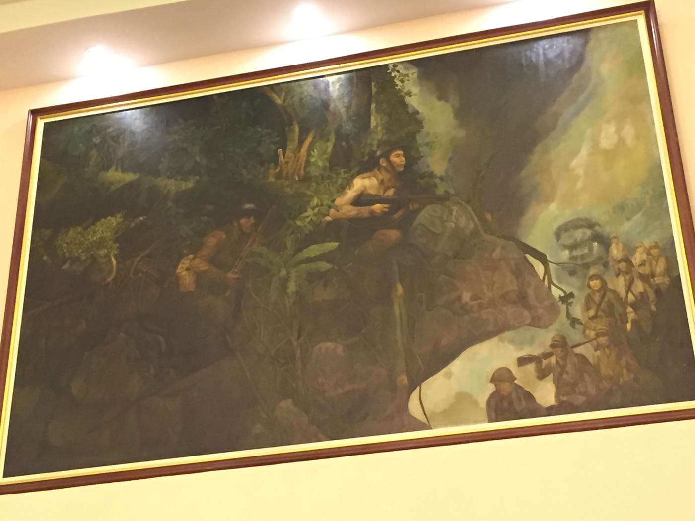 FERDINAND MARCOS. The late dictator is depicted here as a soldier. Photo by Bea Cupin/Rappler