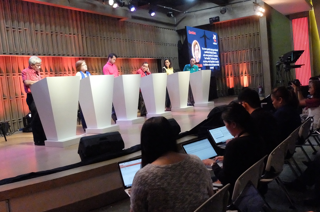 SENATORIAL DEBATE. Rappler holds the 2nd senatorial debate #TheLeaderIWant  on Friday, April 15. Photo by Alecs Ongcal/Rappler