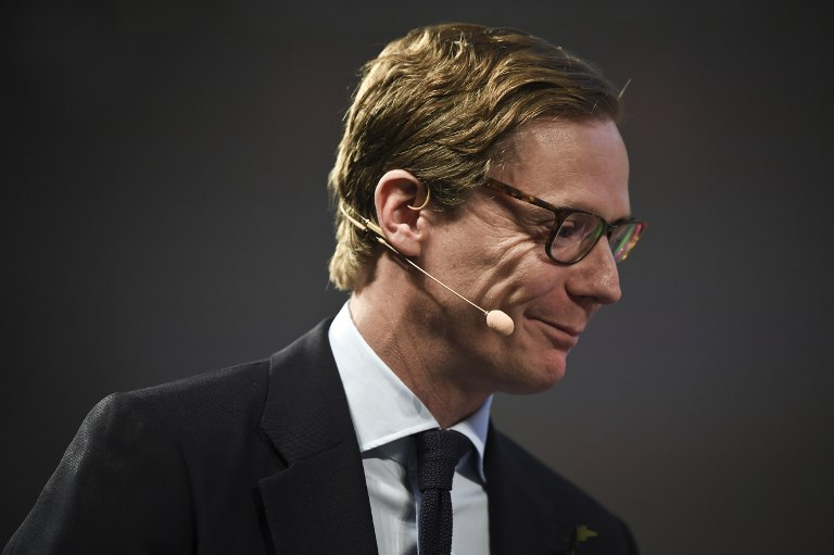 SUSPENDED. In this file photo, Cambridge Analytica's chief executive officer Alexander Nix gives an interview during the 2017 Web Summit in Lisbon on November 9, 2017. File photo by Patricia De Melo Moreira/AFP