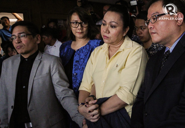 DETAINED. The so-called 'pork barrel queen' Janet Lim Napoles is sentenced to reclusion perpetua for illegally detaining her former employee Benhur Luy. Rappler file photo