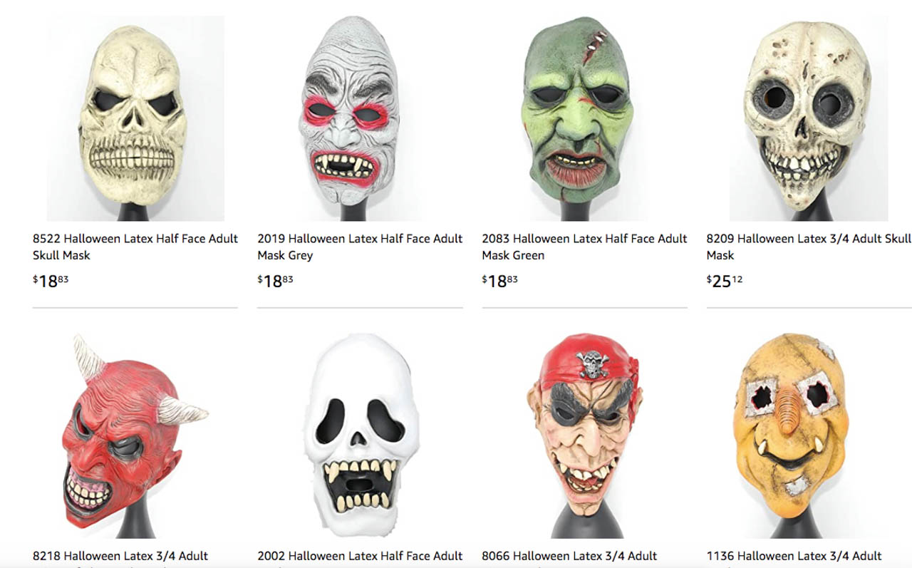 IN GOOD COMPANY. These are other masks sold by the company selling Duterte masks. Amazon screenshot