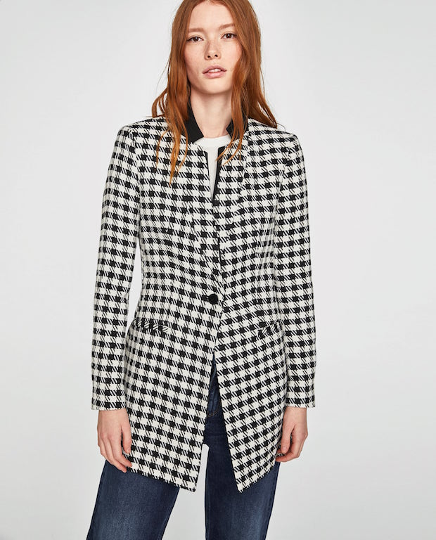 Houndstooth frock coat (P3,995) from zara.com