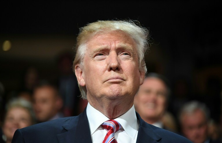 PERSON OF THE YEAR? Donald Trump during the Republican National Convention at the Quicken Loans Arena in Cleveland, Ohio on July 20, 2016. File photo by Jim Watson/AFP