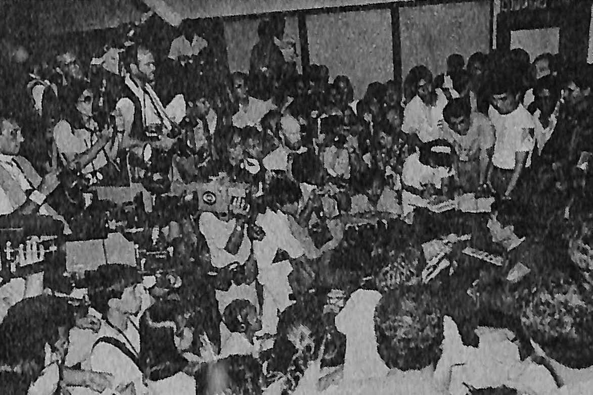 'Enough is enough, Mr President. Your time is up. Do not miscalculate our strength now,' Enrile tells Marcos during a press conference on February 22, 1986. Photo from the Presidential Museum and Library