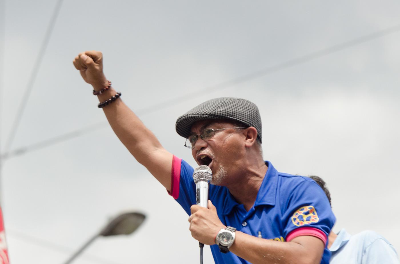 MONTHLY STRIKES. Piston President George San Mateo threatens President Rodrigo Duterte. File photo by Rob Reyes