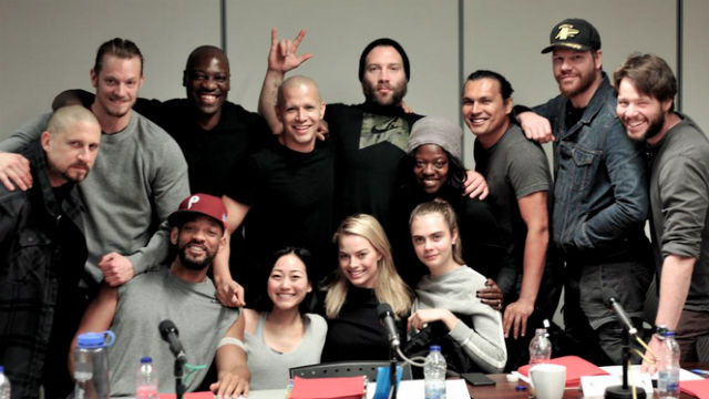 FIRST! The 'Suicide Squad' cast poses for a photo. Screengrab from Twitter/@davidayermovies