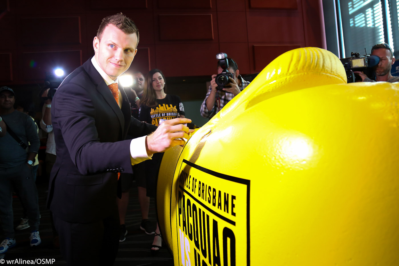 BIGGER CHECKS. Jeff Horn will be signing his name to bigger checks if he can beat Manny Pacquiao. Photo by Wendell Alinea