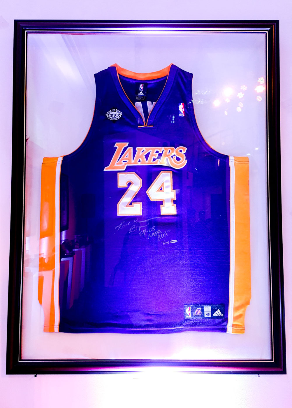 MEMORIES. Kobe Bryant switches his number from 8 to 24 in the 2006-2007 season because this was his first high school number. Photo by Beatrice Go/Rappler