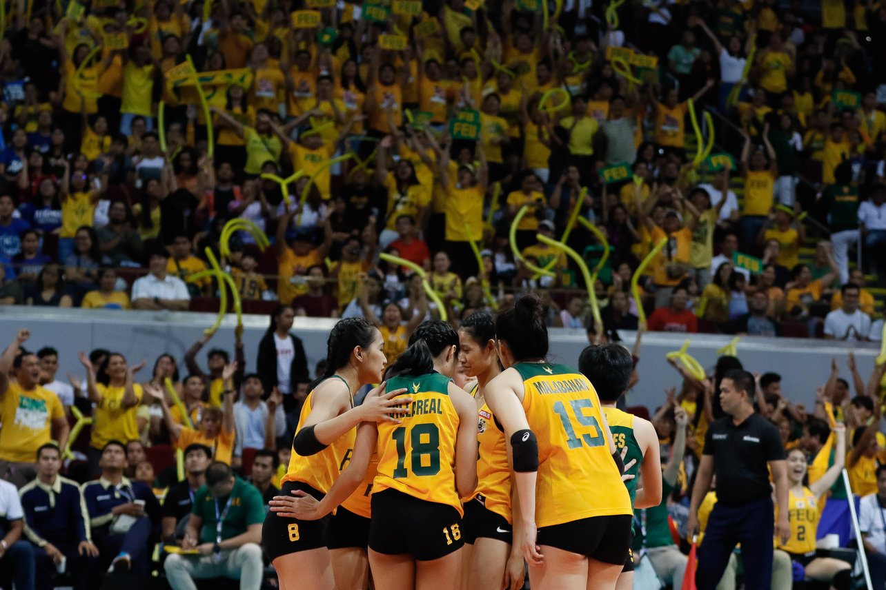BOOSTERS. The Lady Tamaraws get solid support from the FEU faithful. Photo by Francis Dait/FEU Sports