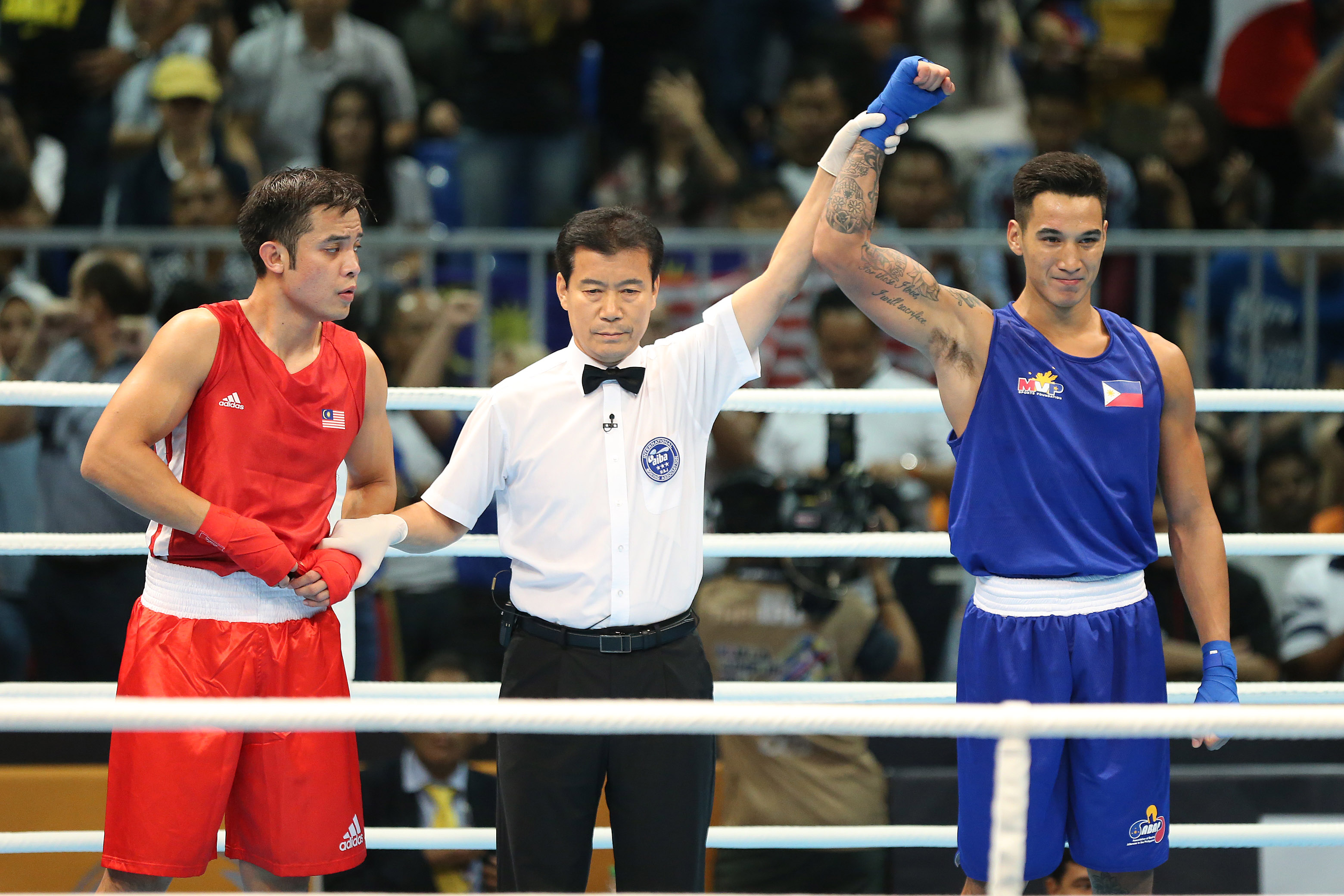 John Marvin goes 3-0 in the SEA Games, defeating Cambodia, Thailand and Malaysia. Photo by PSC-POC Media