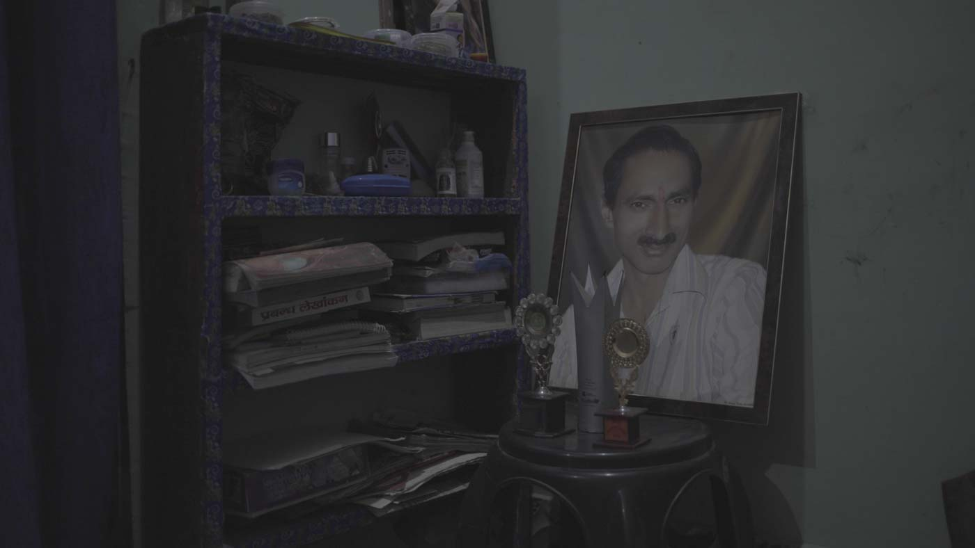 JOURNALIST. Photo of Jagendra Singh in his family home. Photo courtesy of Forbidden Stories