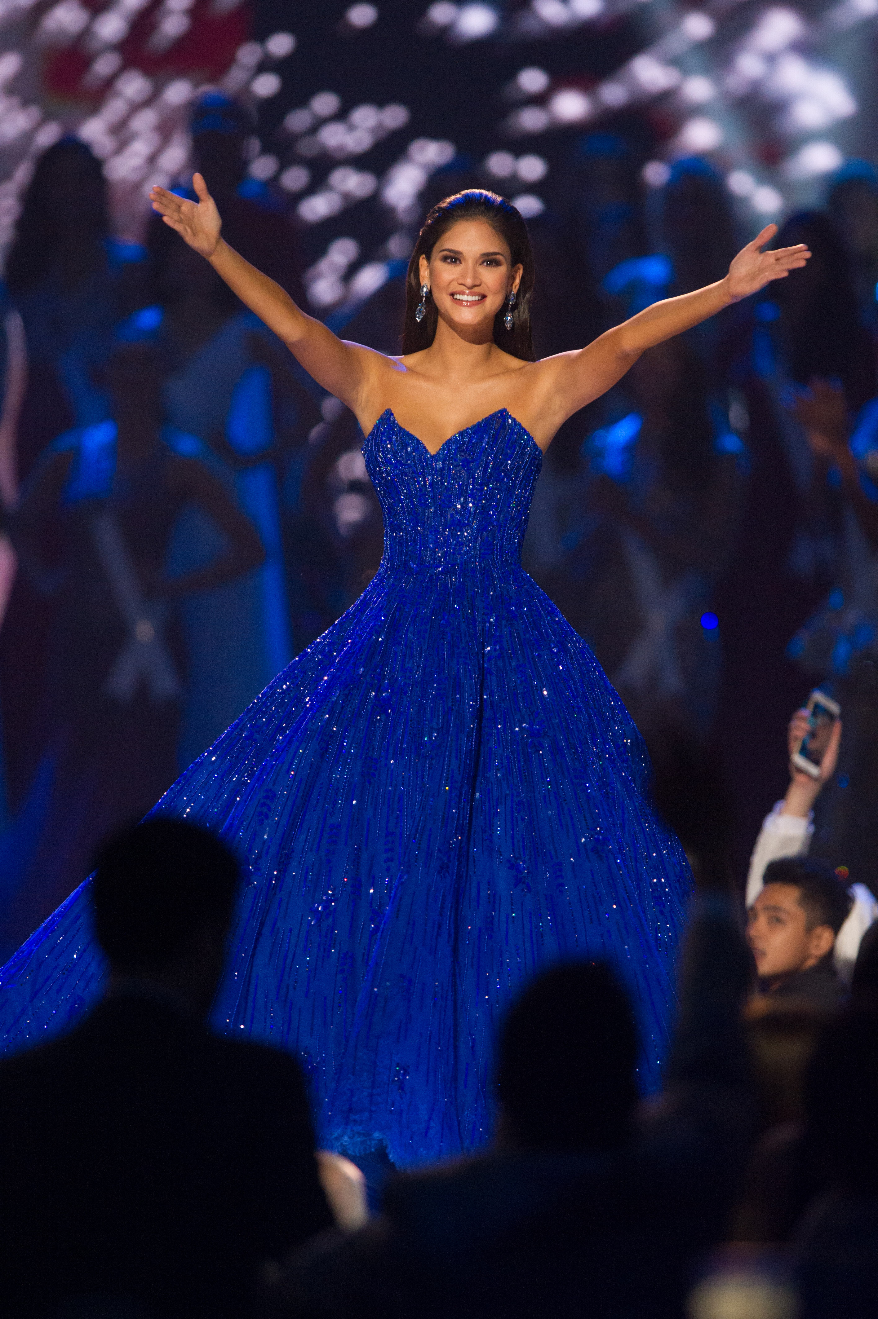 Pia Wurtzbach takes her final walk as Miss Universe 2015 during The 65th MISS UNIVERSEu00c2u00ae Telecast airing on FOX at 7:00 PM ET live/PT tape-delayed on Sunday, January 29 from the Mall of Asia Arena. The contestants have been touring, filming, rehearsing and preparing to compete for the Miss Universe crown in the Philippines. HO/The Miss Universe Organization