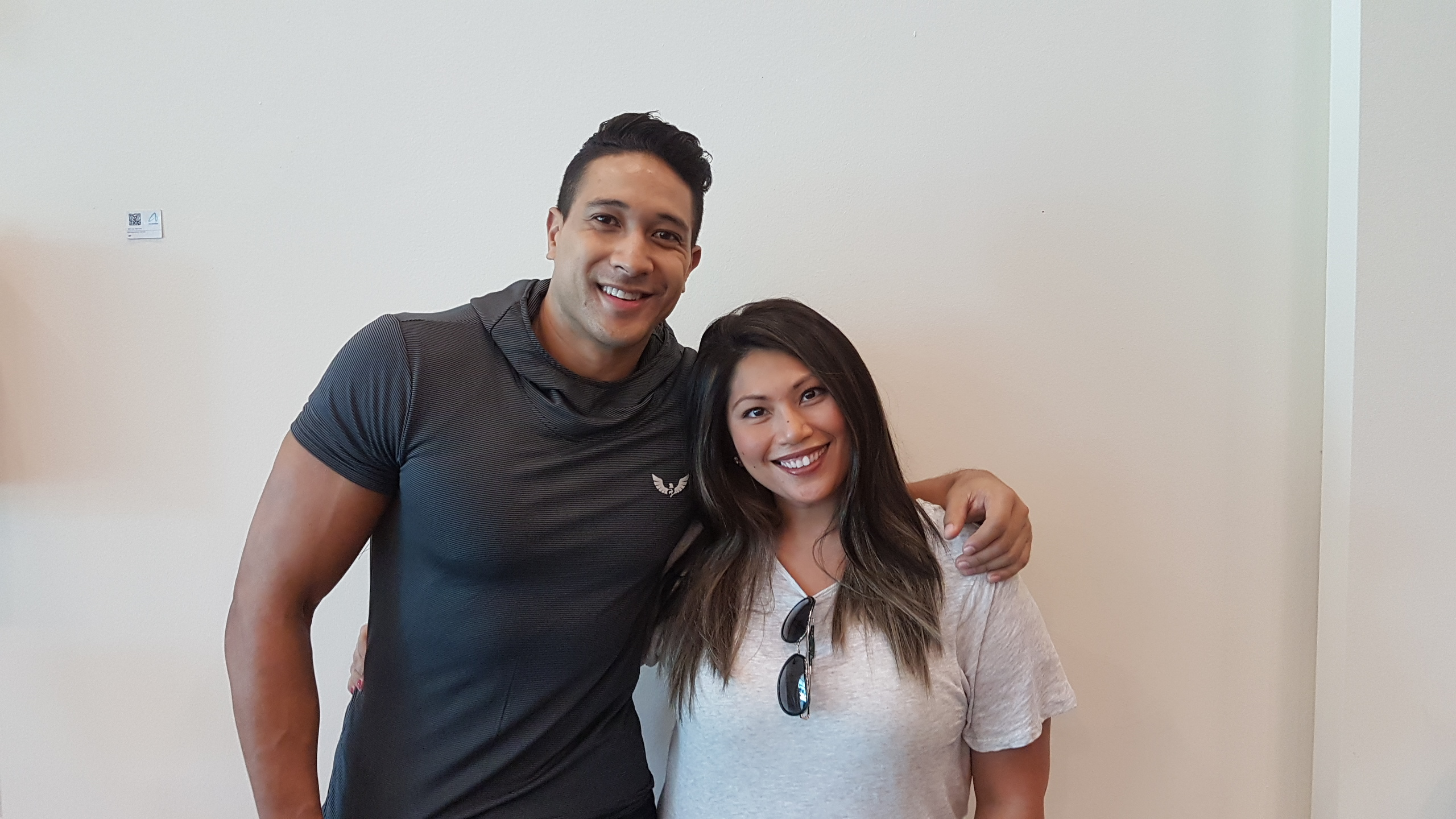 Eric Tai and Rona Samson. Photo courtesy of AXN Asia