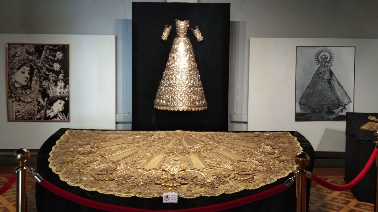 PRESERVED. La Naval wore Gala Mantle called Numero Uno together with the Plancha for its Canonical Coronation in Intramuros in 1907. Photo by Glenda Marie Castro/Rappler
