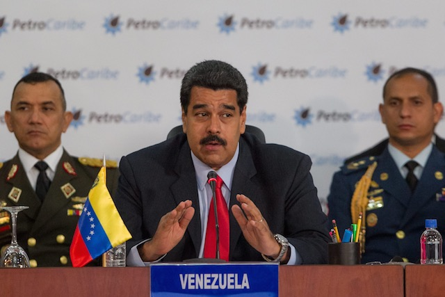 In this file photo, Venezuelan President Nicolas Maduro (C) speaks during the opening of Petrocaribe summit in Caracas, Venezuela, March 6, 2015. Miguel Gutierrez/EPA